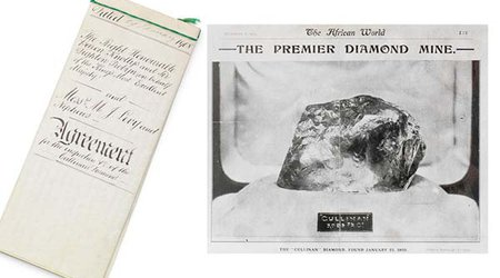 Document Paving the Way for the Cutting of World's Largest Diamond Is Up for Sale